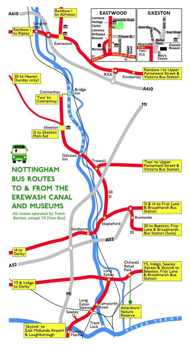 Erewash Canal and Museums bus links