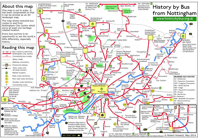 Bus maps History by Nottingham Bus and Tram