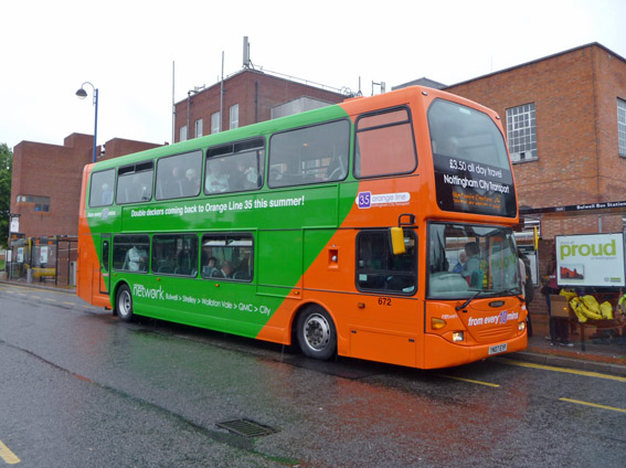 web 140524 1 Bus at Bulwell Bus Sta by RH